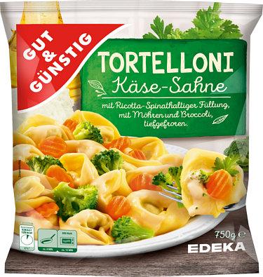 Tortelloni in Käsesahnesauce
