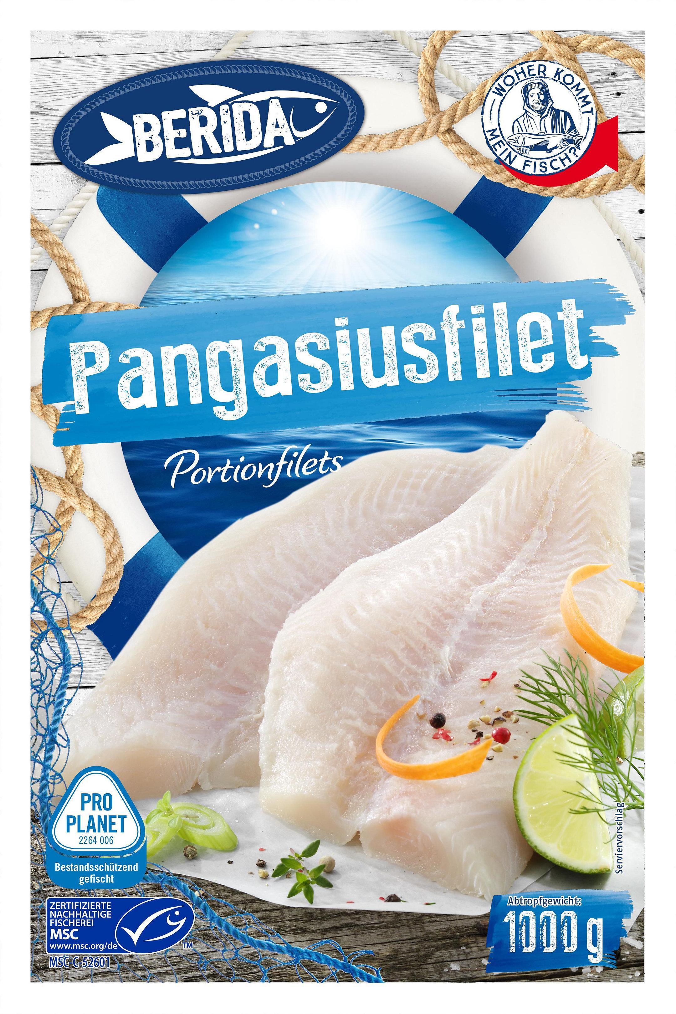 Barida Pangasiusfilets Verpackung für Penny