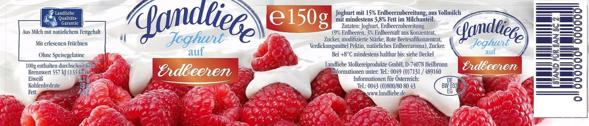 Footgrafie von frischen Lebensmitteln: Früchte mit Joghurt überzogen