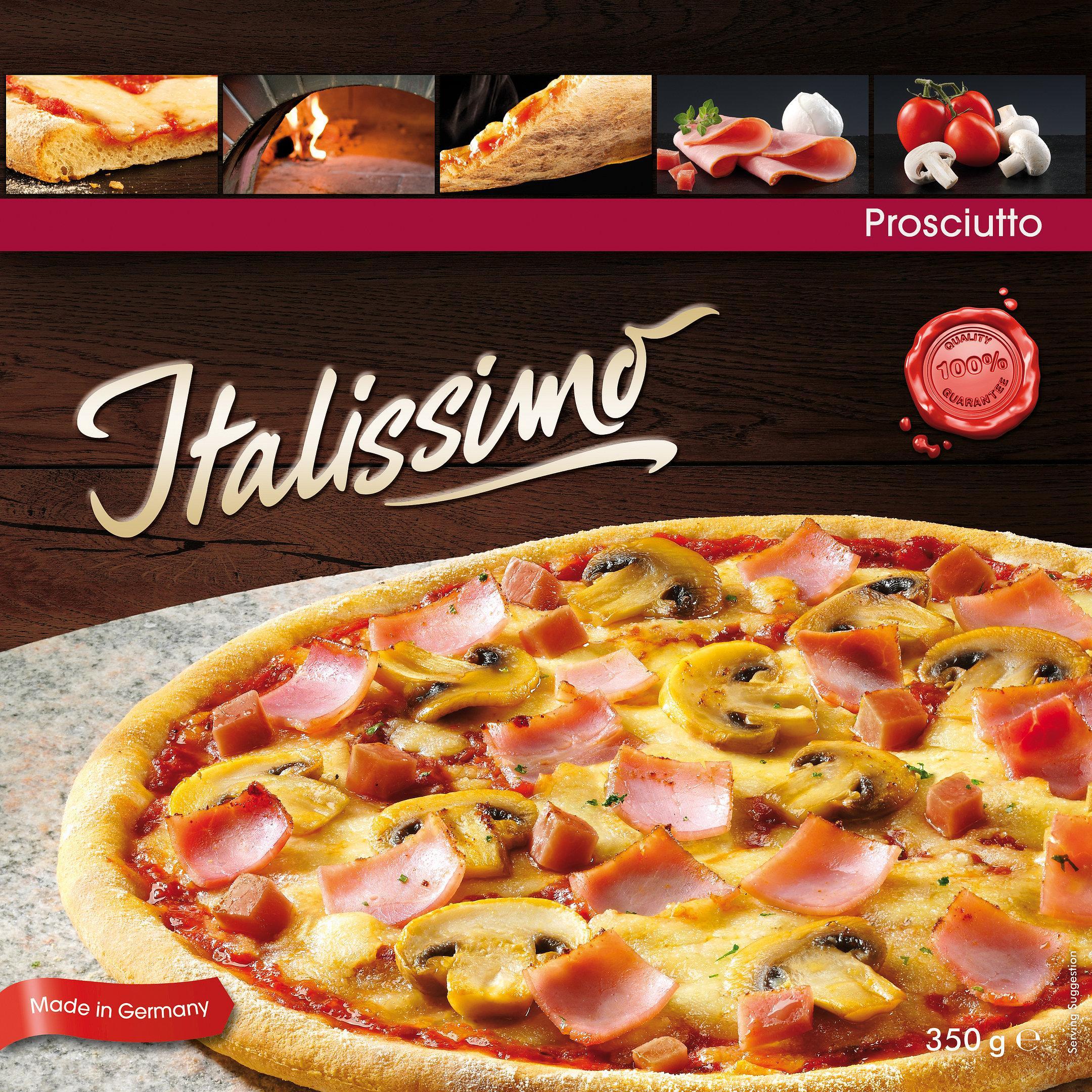 Hasa Pizza Verpackung mit  Schinken Pizza