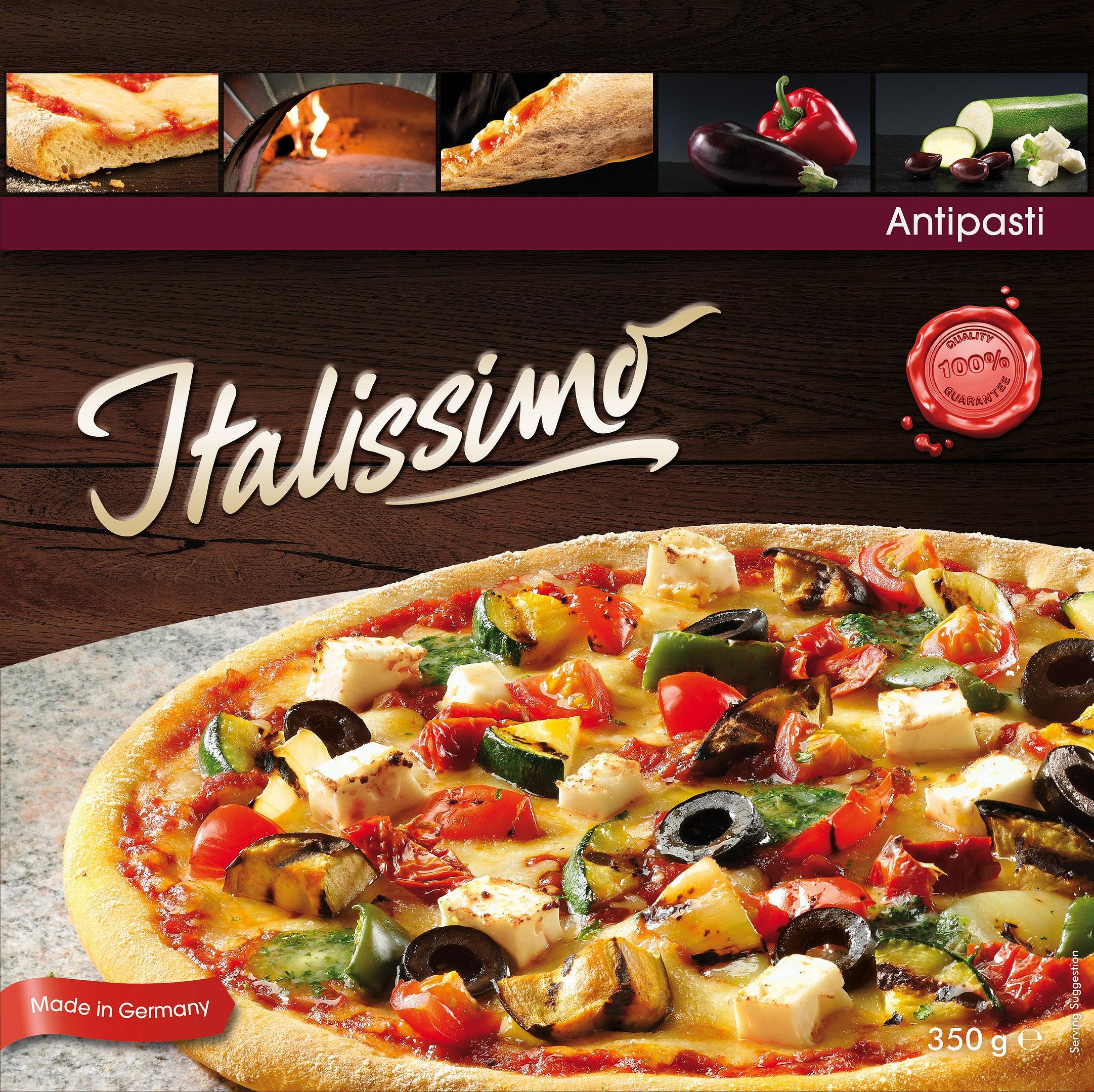 Hasa Pizza Verpackung mit Gemüse Pizza