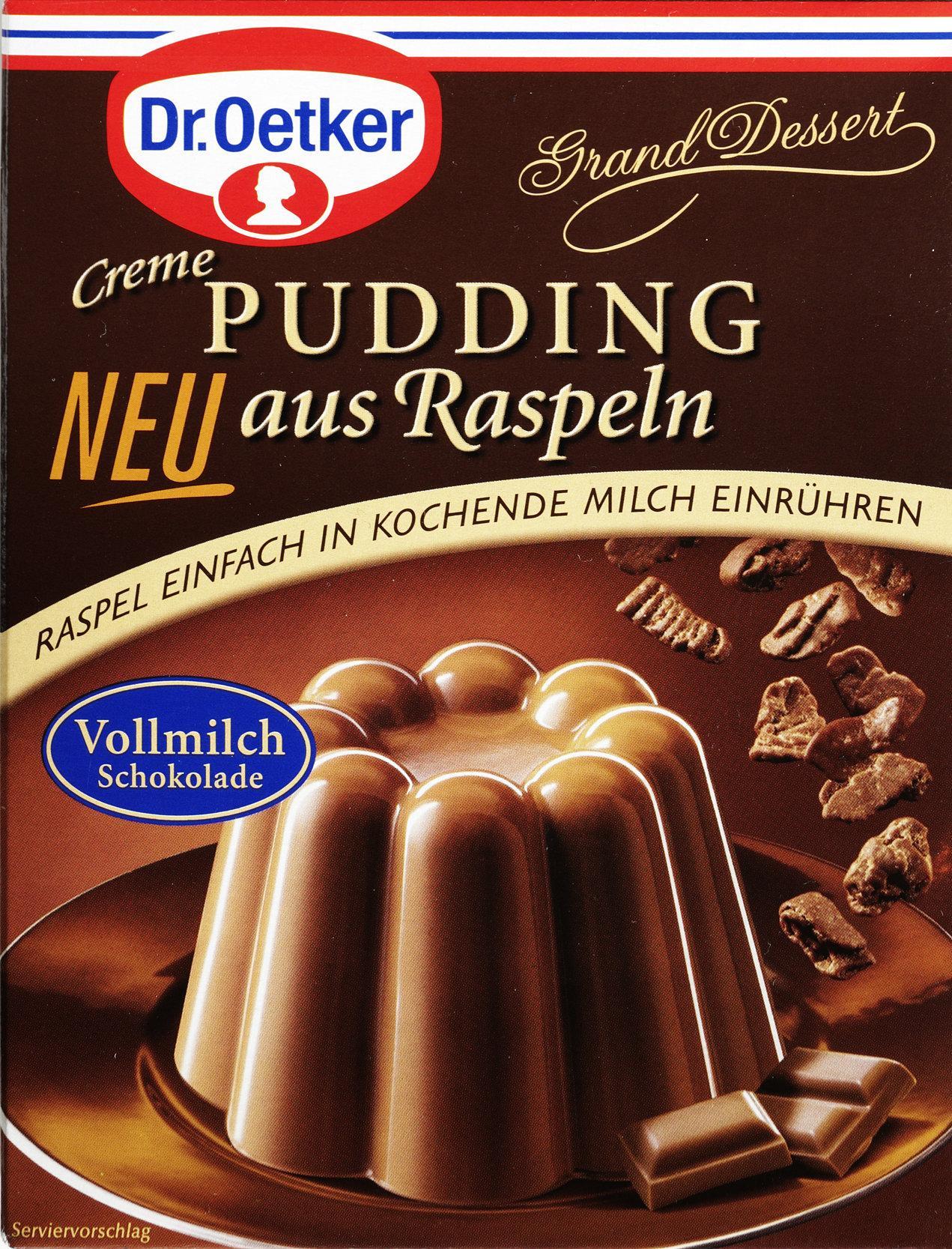 Packung Pudding mit Splits von Dr. Oetker